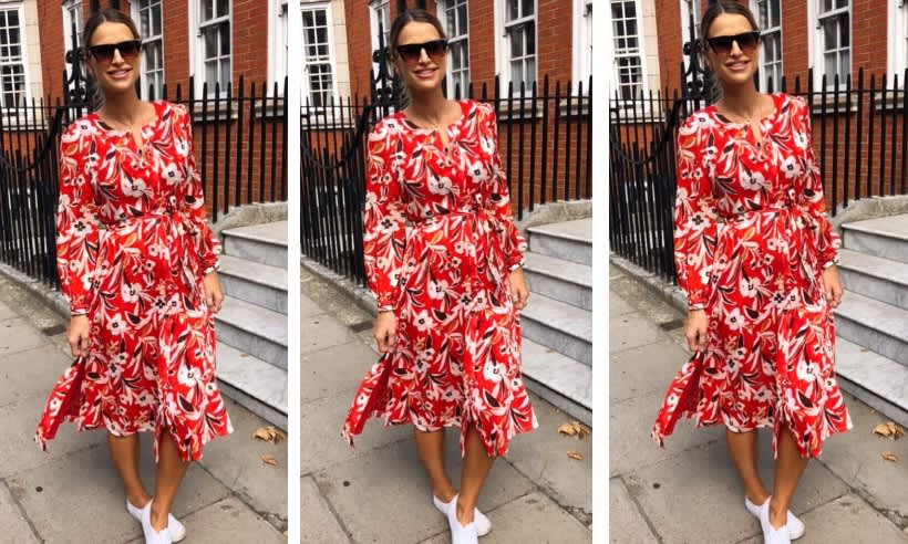 Vogue Williams Wows Her Followers In Floral Midi Dress As
