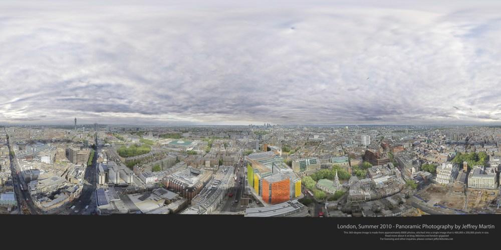 Londres en 80 Gigapíxeles, la panorámica mas grande del mundo. (1/6)