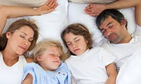A family that sleeps together....well...