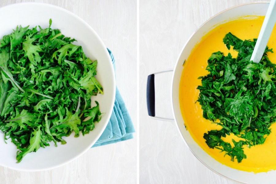 Golden Austrian Cauliflower Cream soup recipe Dr Fuhrman steamed kale no salt no oil recipe Forks over Knives