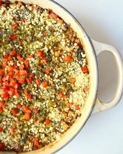Dr Fuhrman Eat to Live Program Recipe Cheesy Red Pepper Kale Casserole No Oil Vegan Recipe