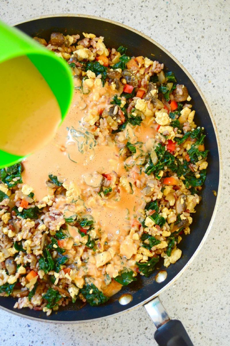 Vegan Cheese Sauce no oil no added salt Dr Fuhrman Eat to Live Recipe Nutritarian Recipe Cheesy Kale Casserole recipe