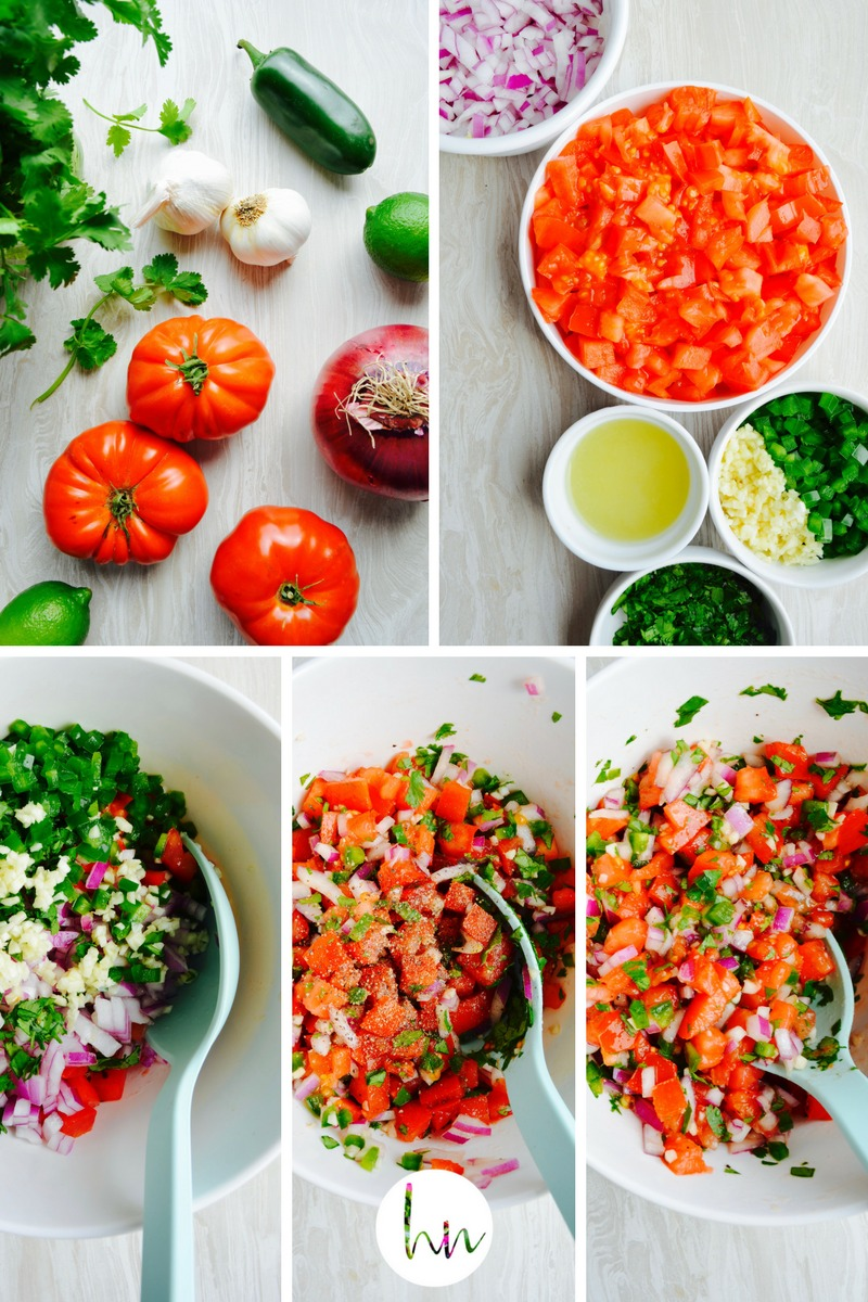 no added salt Pico de Gallo Collage dr fuhrman nutritarian 6 week diet plan dr greger how not to die engine 2 diet