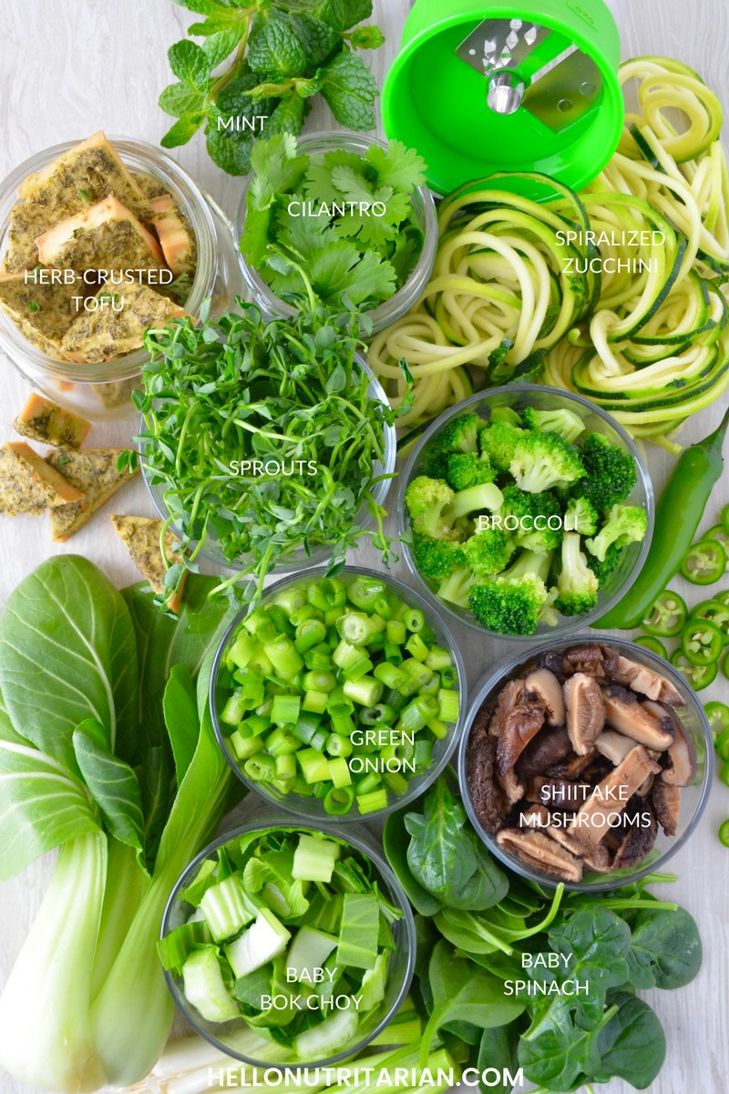 Nutritarian Pho Noodle Soup No Oil Vegan recipe best gree toppings for vietnamese pho noodle soup bowls Dr Greger How Not to Die Cookbook Dr Caldwell Esselstyn Whole Food Plant Based