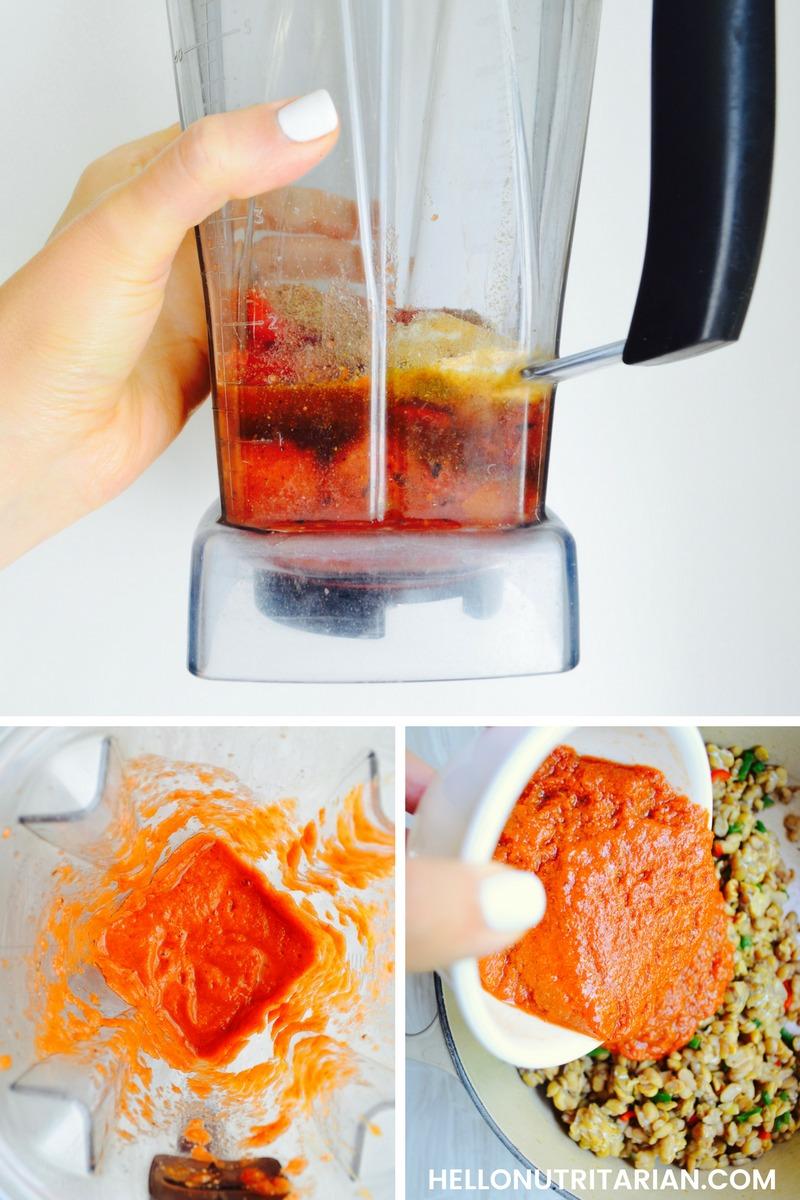Oil Free Enchilada Sauce Recipe No Oil Vegan enchilada Sauce Blender recipe Whole Food Plant Based