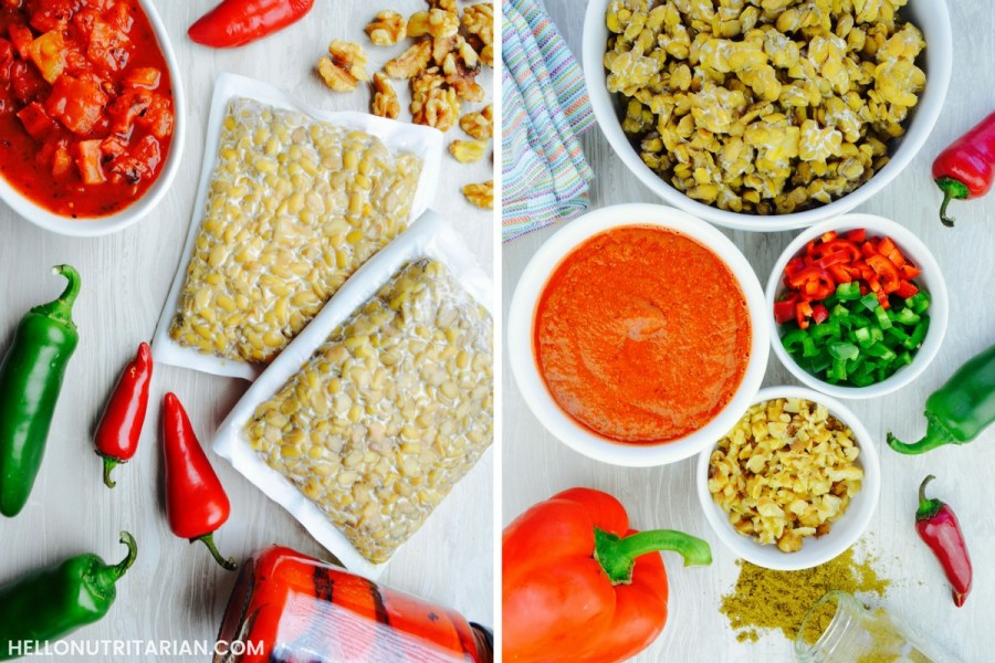 Oil Free Vegan Tempeh Taco Meat recipe What the Health Whole Food Plant based SOS recipe