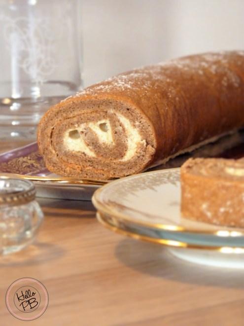 Gâteau roulé à la crème au gingembre