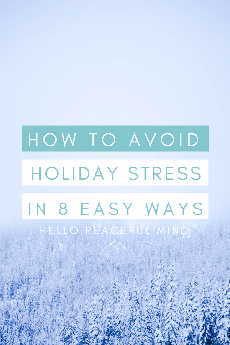 Reduce your holiday stress