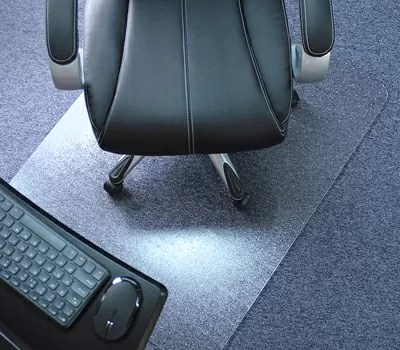 Marvelux Heavy Duty Polycarbonate Office Chair Mat for Pile Carpeted Floors