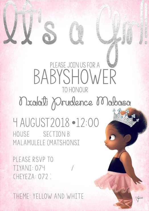Princess Baby Shower Invite Or S