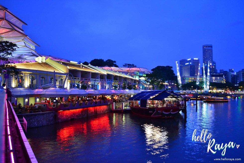 Singapore by Night - Clarke Quay | Hello Raya Blog