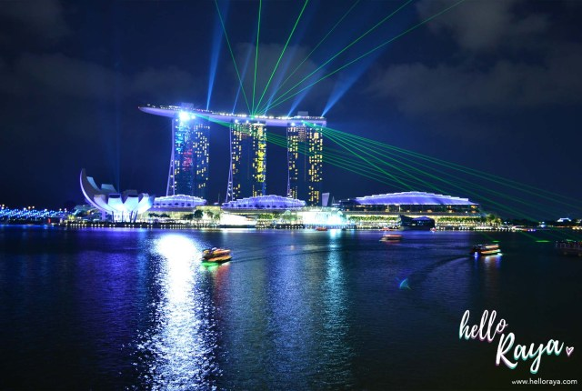 Singapore at Night - Marina Bay Laser Show | Hello Raya Blog