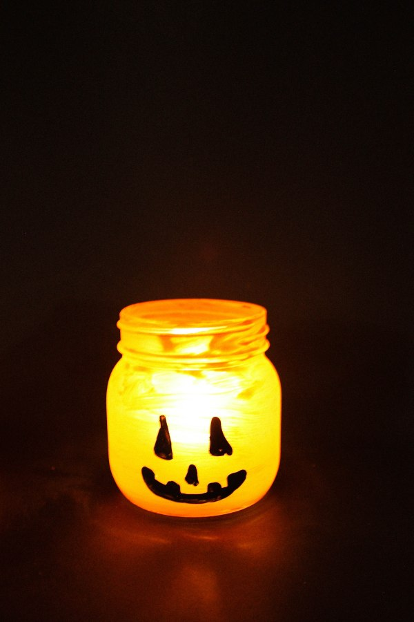 Halloween Candy and Candle Holder DIY - 9