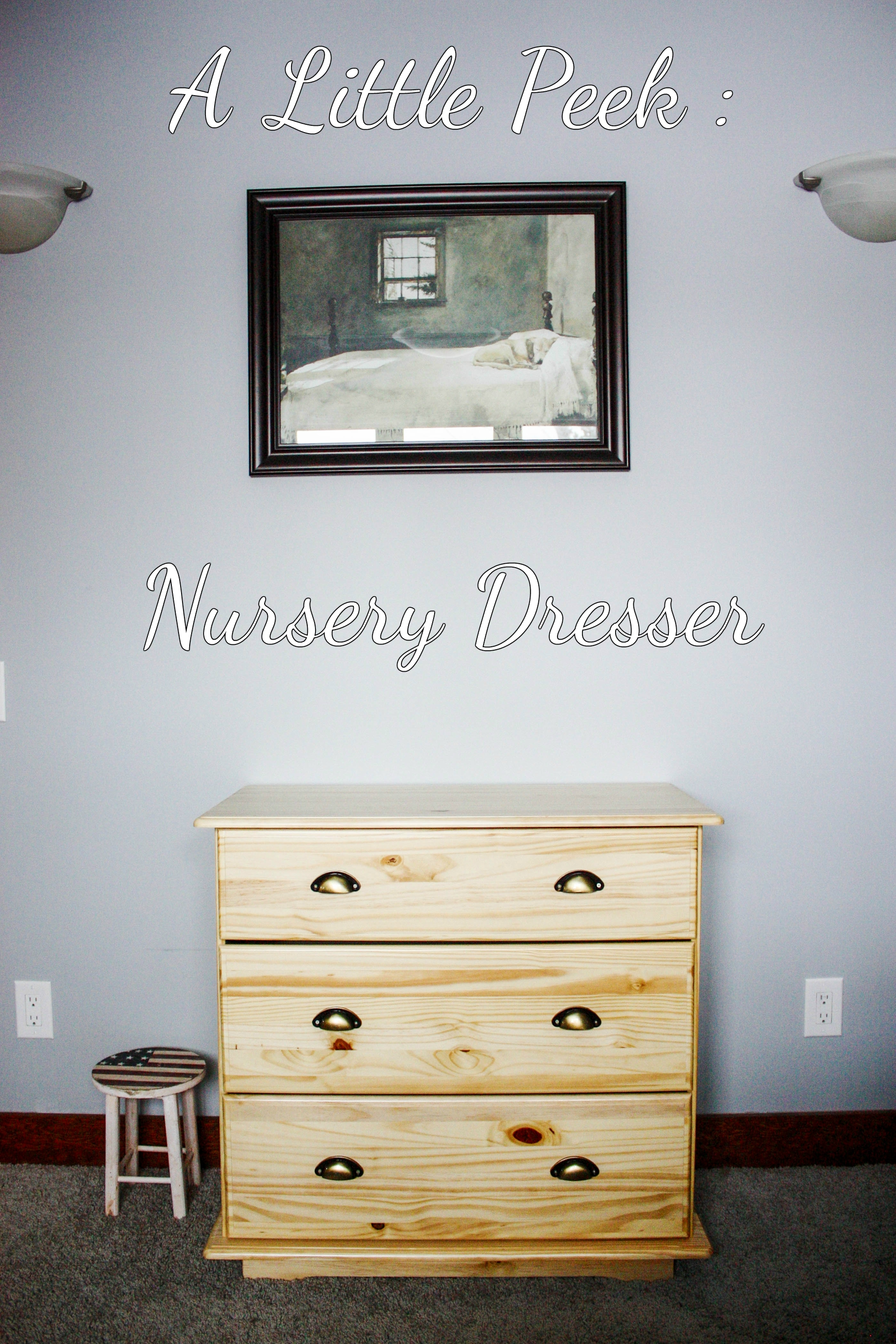 nursery dresser and clothes