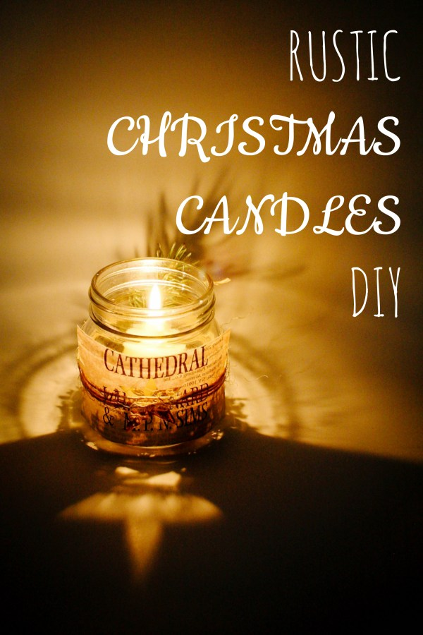 Rustic Christmas Candle DIY