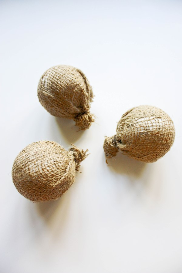 Burlap Tree Ornaments - 5