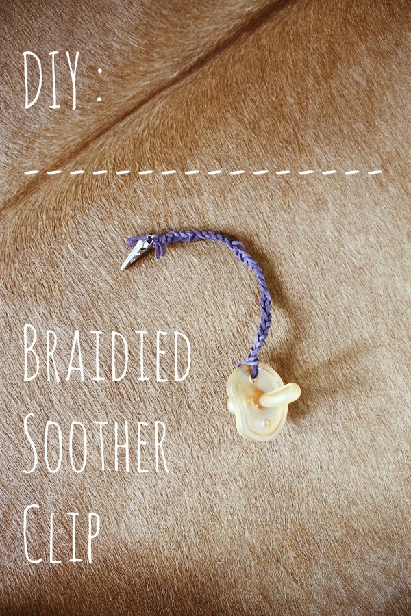 Leather Braided Soother Clip