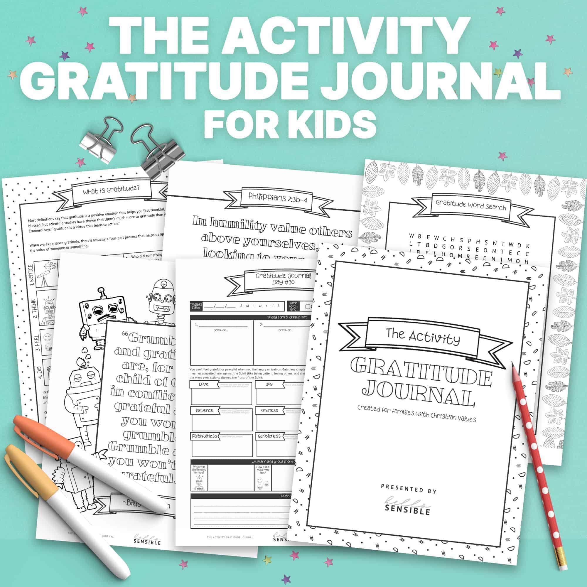 Kids Activity Gratitude Journal