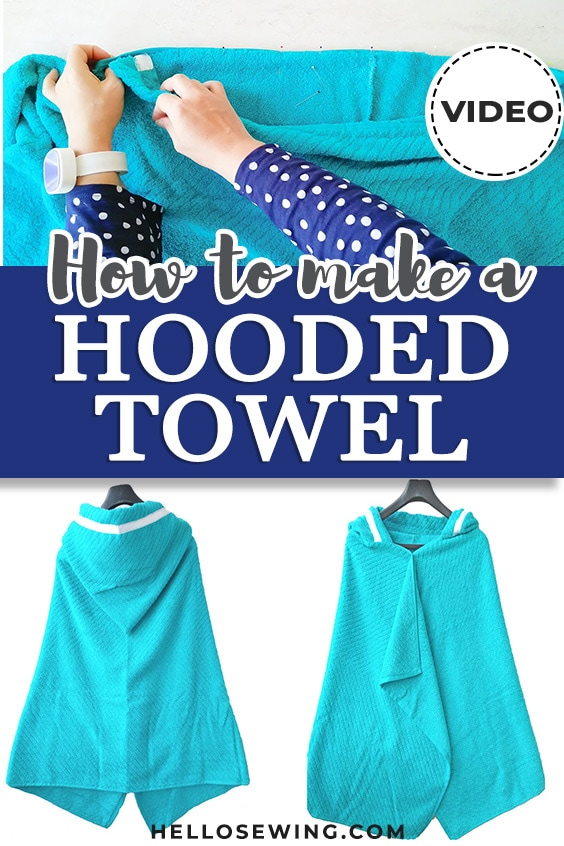 Easy Hooded Towel for Kids - DIY Sewing Tutorial