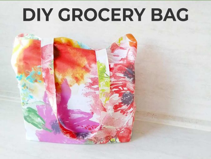 How to sew a reusable grocery bag