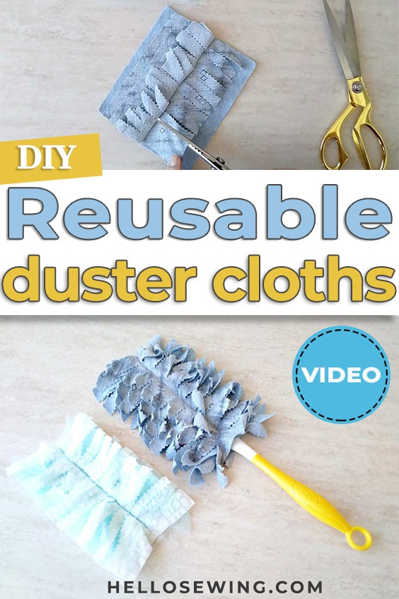 DIY Reusable Duster Cloths Sewing Tutorial