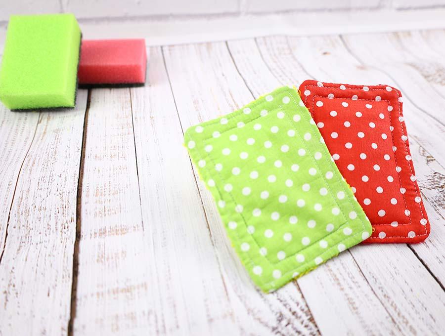 DIY Zero Waste Kitchen Sponges - Free Sewing Pattern
