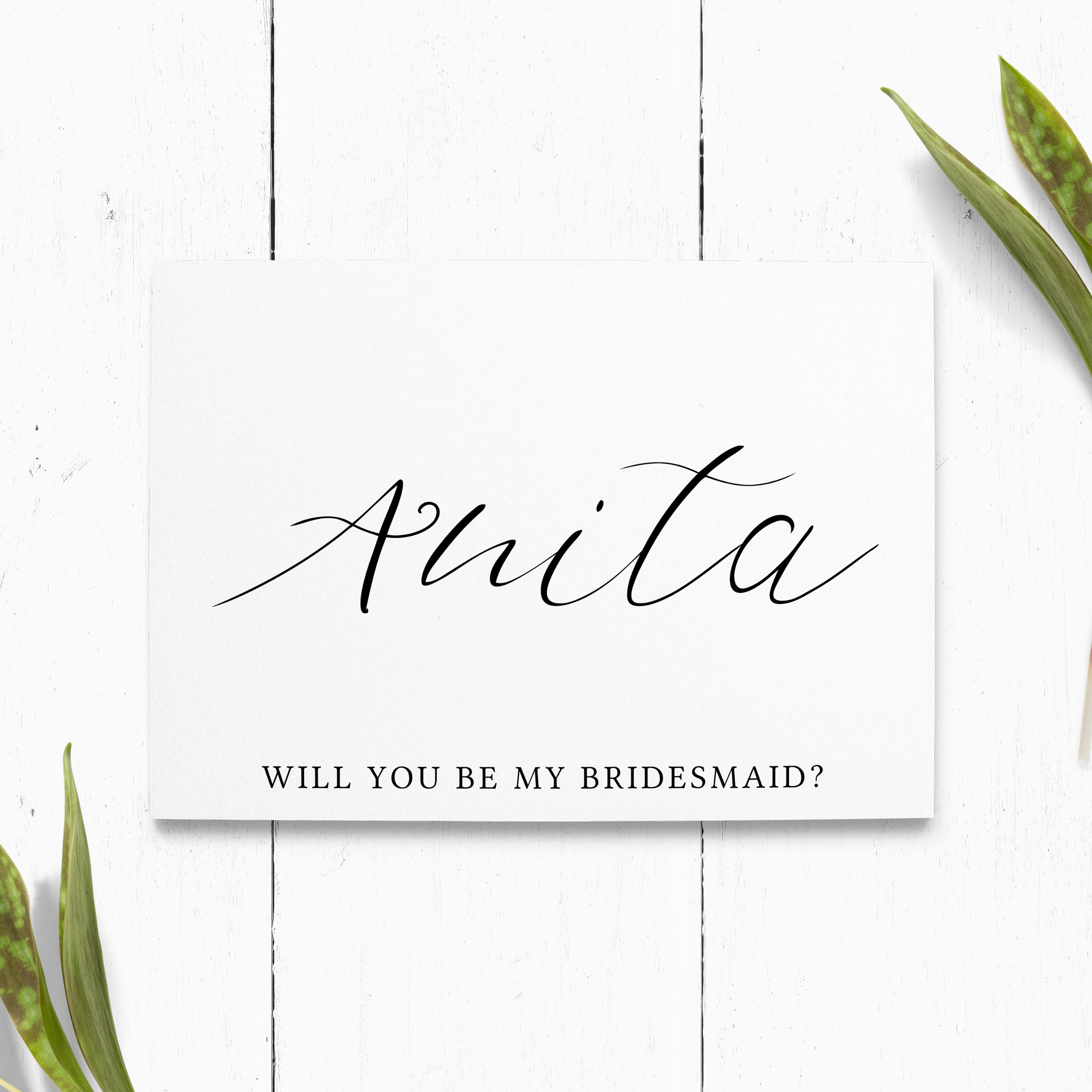 will you be one of my groomsmen Personalised card Wedding Proposal Card A6