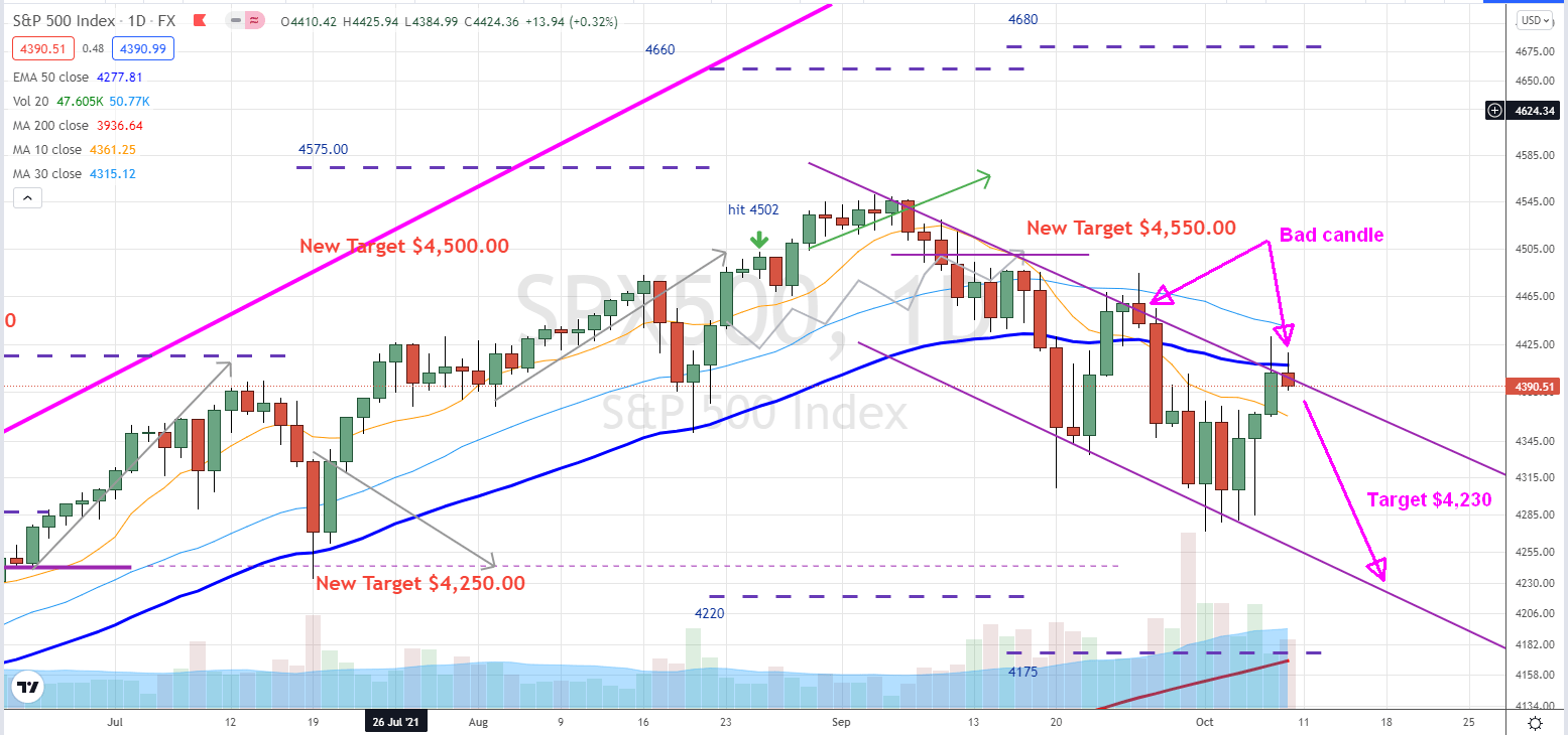 S&P 500 rebound