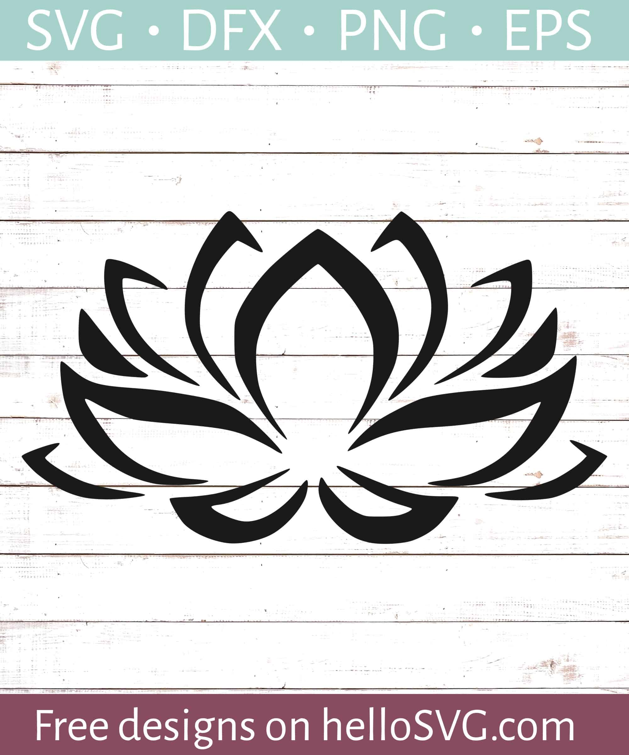Lotus Flower 1 Svg Free Svg Files Hellosvgcom