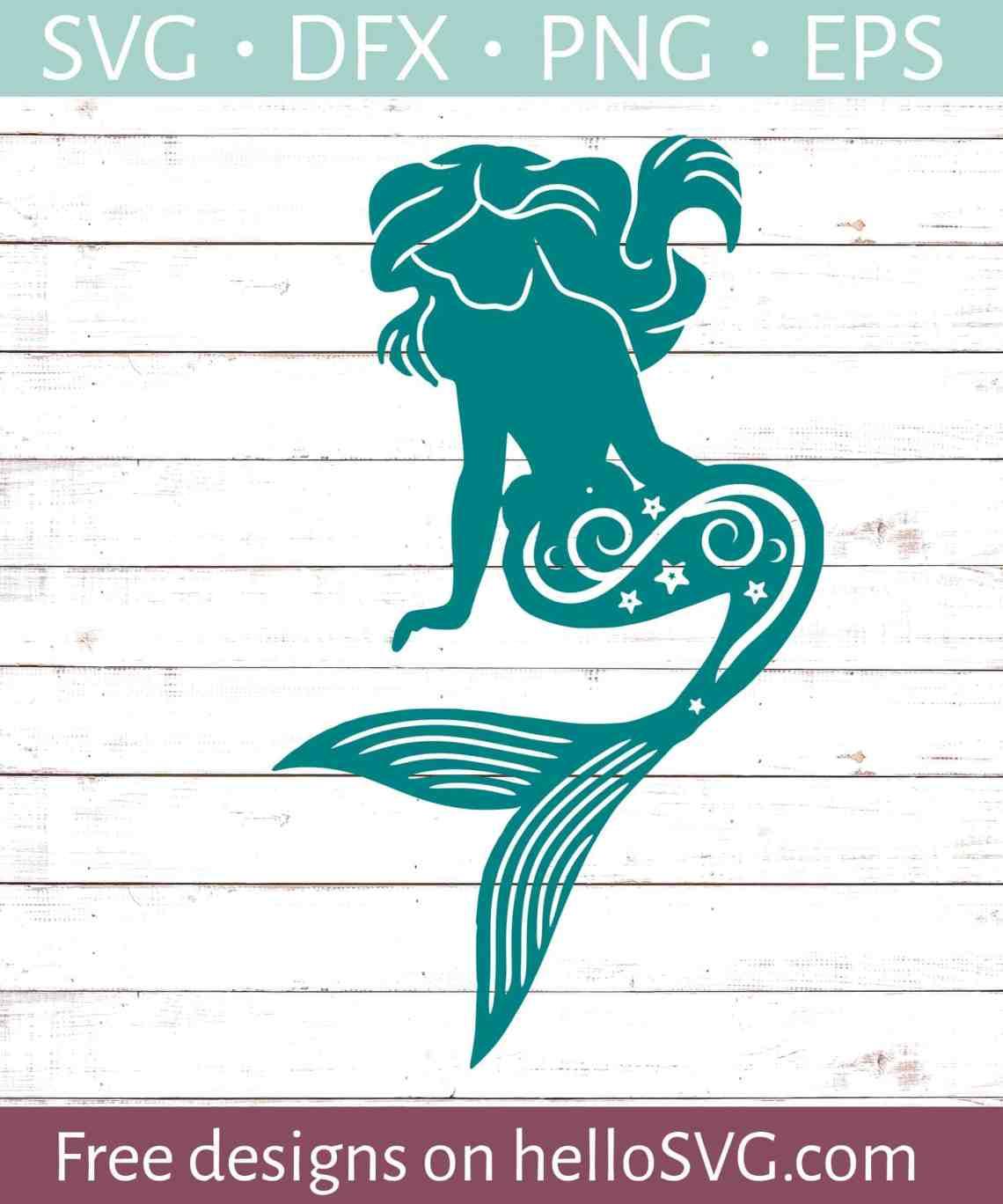 Download Mermaid Silhouette #3 SVG - Free SVG files | HelloSVG.com