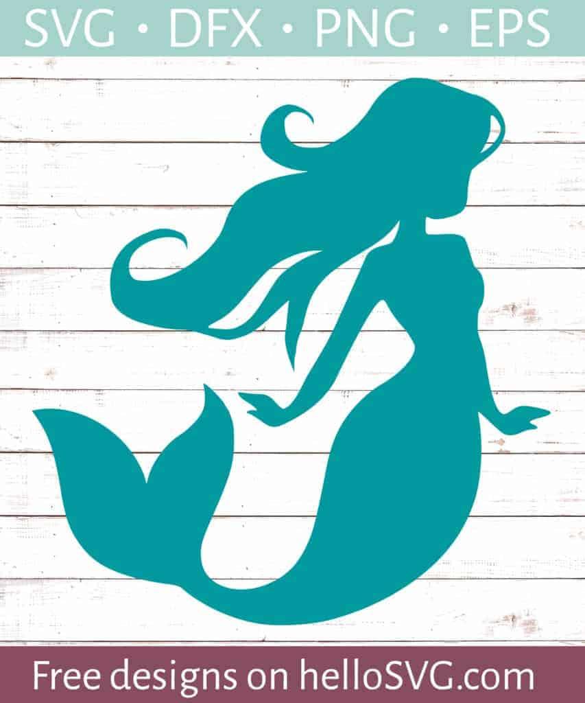 Download Mermaid Silhouette #1 SVG - Free SVG files | HelloSVG.com
