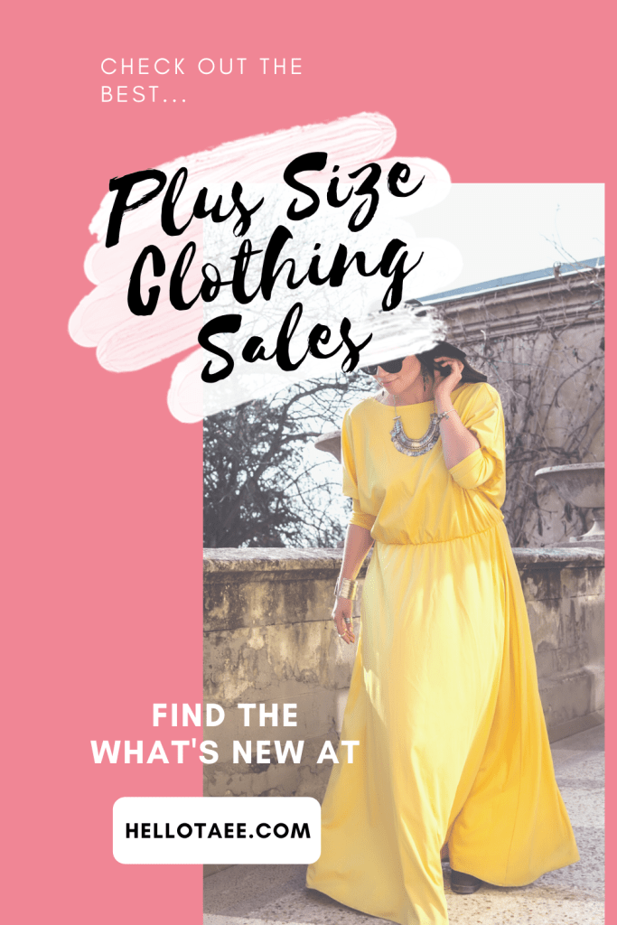 Looking for some great plus size clothing sales? We've got all of your favourites here. There are a ton of great deals that you need to have in your closet. Check them all out at hellotaee.com.
