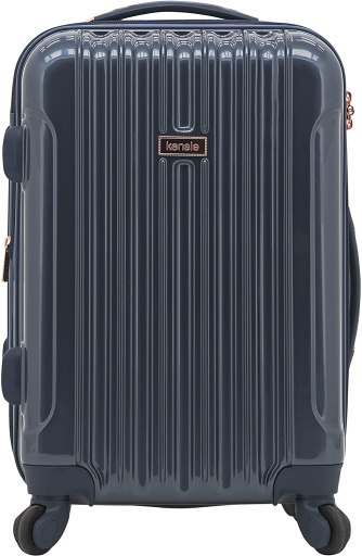 Kensie carry-on luggage in midnight blue