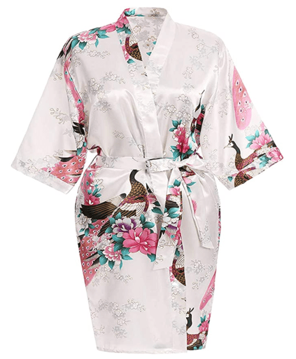 Floral Satin Womens Plus Size Robes, Lightweight, Sizes 20-38