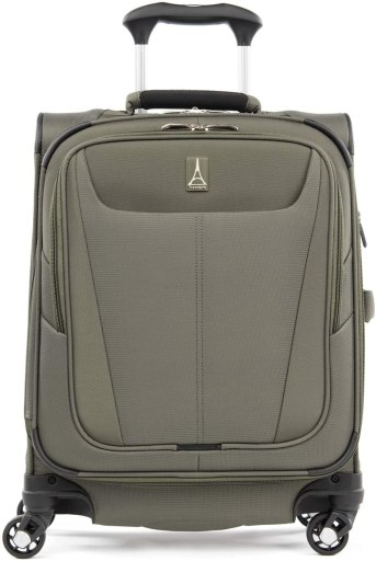 Travelpro Maxlite 5-Softside Expandable Spinner Wheel Luggage, Slate Green, Carry-On 19-Inch