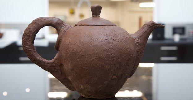 A Teapot Made From Chocolate?