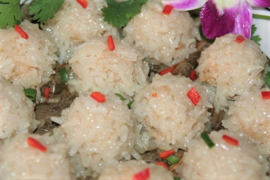 Pearl Meatballs Zhen Zhu Rou Wan 珍珠肉丸