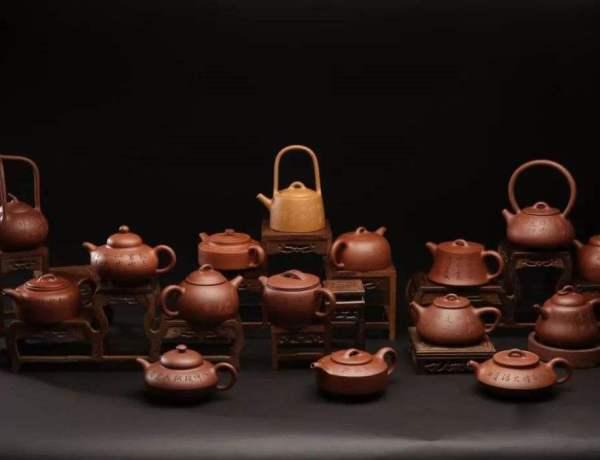 18 man sheng yixing teapots