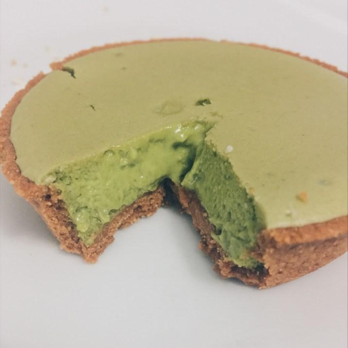 Inside the cheese tart