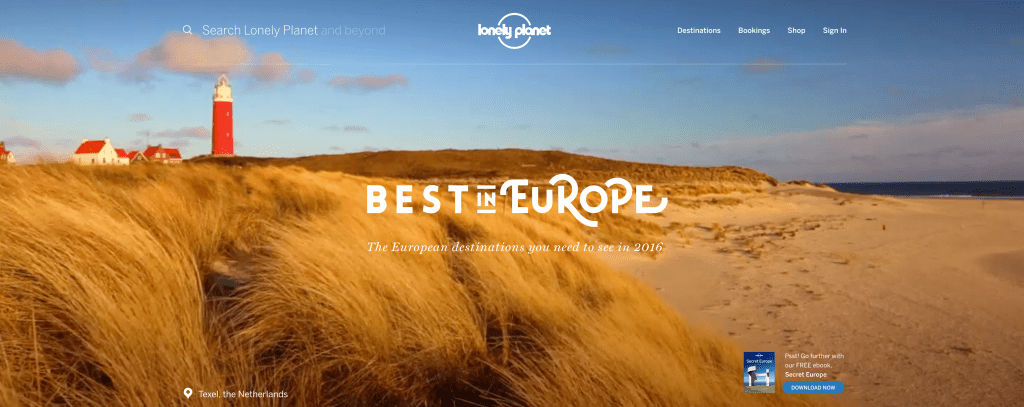 Lonely Planet Texel Best in Europe