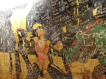 Write your name on the restaurant's wall. Photo from Le Refuge des Fondus Facebook page.