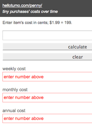 Daily cost calculator app