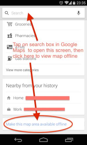 Google Maps offline how to