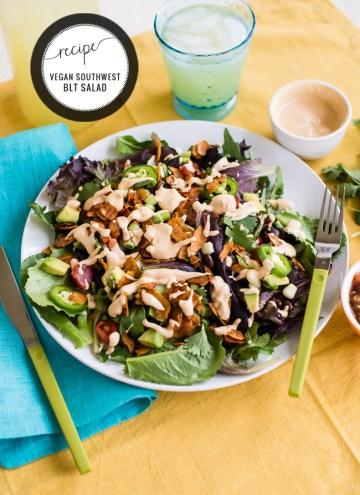 Southwest BLT Salad With Zesty Lime Dressing