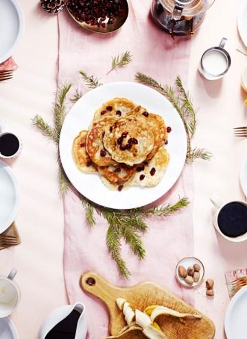 Vegan Banana Eggnog Pancakes