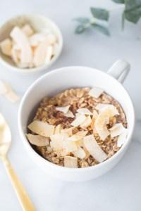 Single Serve Microwave Baked Coconut Oatmeal