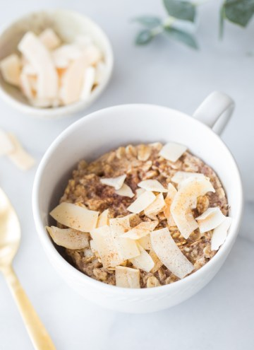 A Healthy 2-Minute Breakfast: Single-Serve Baked Coconut Oatmeal