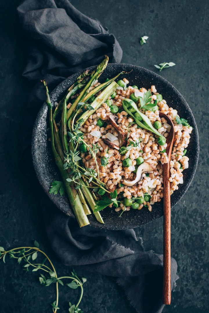 Spring Vegetable Farro Risotto