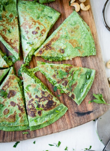 These Green Goddess Quesadillas Are Dinner Goals