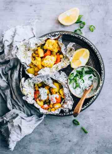 Make These Curry Cauliflower Grill Packets for Your Next Cookout